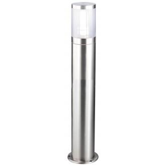 RABALUX 8168 | Atlanta Rabalux stojaté svietidlo 80cm 1x E27 IP44 UV zušľachtená oceľ, nehrdzavejúca oceľ, priesvitné