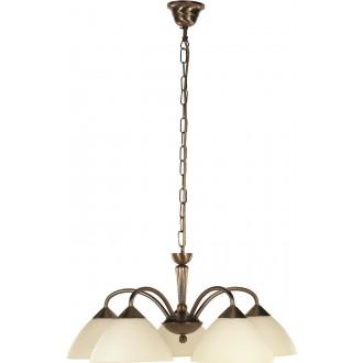 RABALUX 8175 | Regina Rabalux luster svietidlo 5x E14 bronzová, krémové