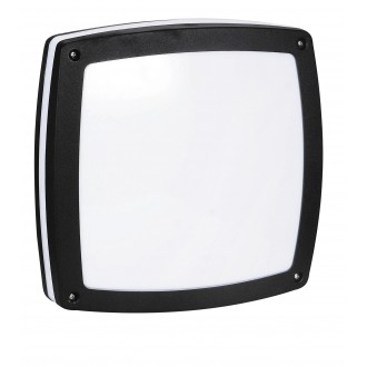RABALUX 8187 | Saba Rabalux stenové, stropné svietidlo 2x E27 IP54 UV čierna, biela