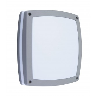 RABALUX 8188 | Saba Rabalux stenové, stropné svietidlo 2x E27 IP54 UV strieborný, biela