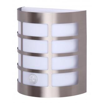 RABALUX 8200 | SevillaR Rabalux stenové svietidlo pohybový senzor 1x E27 IP44 UV zušľachtená oceľ, nehrdzavejúca oceľ, biela