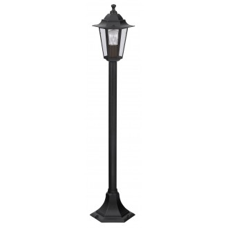 RABALUX 8210 | Velence1 Rabalux stojaté svietidlo 105cm 1x E27 IP43 čierna, priesvitné