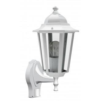 RABALUX 8216 | Velence1 Rabalux rameno stenové svietidlo pohybový senzor 1x E27 IP43 biela, priesvitné