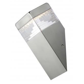 RABALUX 8249 | Genf Rabalux stenové svietidlo 1x LED 450lm 4000K IP54 zušľachtená oceľ, nehrdzavejúca oceľ