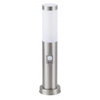 RABALUX 8267 | Inox Rabalux stojaté svietidlo 45cm pohybový senzor 1x E27 IP44 UV zušľachtená oceľ, nehrdzavejúca oceľ, biela