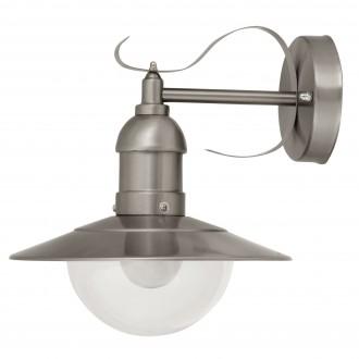 RABALUX 8270 | OsloR Rabalux rameno stenové svietidlo 1x E27 IP44 UV zušľachtená oceľ, nehrdzavejúca oceľ, priesvitné