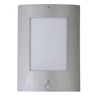 RABALUX 8288 | DenverR Rabalux stenové svietidlo pohybový senzor 1x E27 IP44 UV zušľachtená oceľ, nehrdzavejúca oceľ, biela