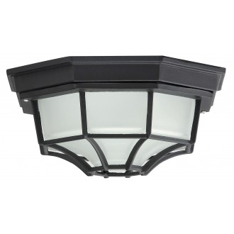 RABALUX 8346 | Milano1 Rabalux stropné svietidlo 1x E27 IP43 čierna, opál
