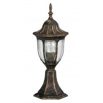 RABALUX 8373 | Milano Rabalux stojaté svietidlo 43cm 1x E27 IP43 starožitná zlata, priesvitné