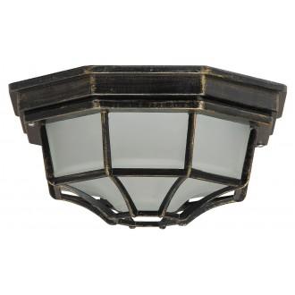 RABALUX 8376 | Milano Rabalux stropné svietidlo 1x E27 IP43 starožitná zlata, opál