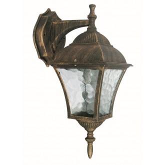 RABALUX 8391 | Toscana Rabalux rameno stenové svietidlo 1x E27 IP43 starožitná zlata, priesvitná