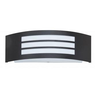 RABALUX 8409 | Roma Rabalux stenové svietidlo 1x E27 IP44 UV matná čierna