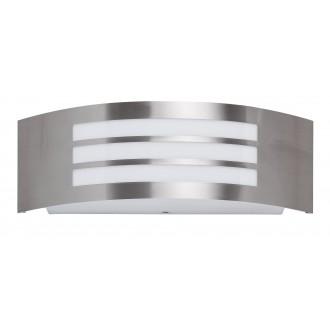 RABALUX 8410 | Roma Rabalux stenové svietidlo 1x E27 IP44 UV zušľachtená oceľ, nehrdzavejúca oceľ