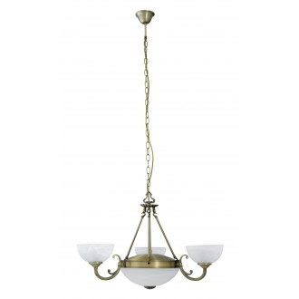 RABALUX 8543 | Marlene Rabalux luster svietidlo 3x E14 + 2x E27 bronzová, biela alabaster