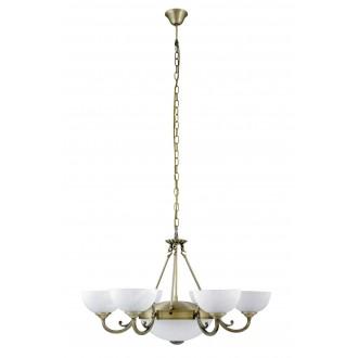 RABALUX 8546 | Marlene Rabalux luster svietidlo 6x E14 + 2x E27 bronzová, biela alabaster