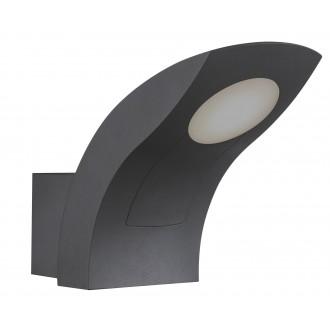 RABALUX 8566 | Melbourne Rabalux rameno stenové svietidlo 1x LED 480lm 3000K IP54 tmavošedá