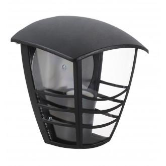 RABALUX 8570 | Marseille Rabalux stenové svietidlo 1x E27 IP44 UV čierna, priesvitné