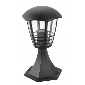 RABALUX 8619 | Marseille Rabalux stojaté svietidlo 29,7cm 1x E27 IP44 UV čierna, priesvitné