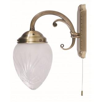 RABALUX 8631 | Annabella Rabalux rameno stenové svietidlo prepínač na ťah 1x E14 bronzová, priesvitné