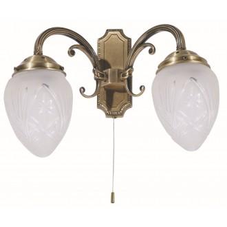 RABALUX 8632 | Annabella Rabalux rameno stenové svietidlo prepínač na ťah 2x E14 bronzová, priesvitné