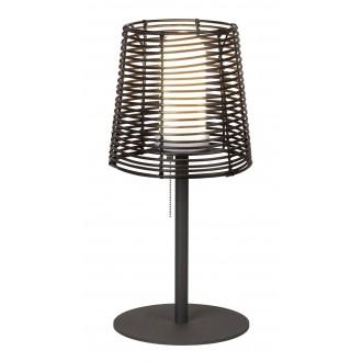 RABALUX 8649 | Knoxville Rabalux stolové svietidlo 51cm prepínač na ťah 1x E27 IP44 UV čierna, hnedá, biela