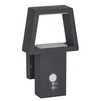 RABALUX 8668 | ArizonaR Rabalux stenové svietidlo pohybový senzor 1x LED 900lm 3000K IP44 antracit