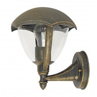 RABALUX 8671 | Miami Rabalux rameno stenové svietidlo 1x E27 IP44 UV starožitná zlata, biela
