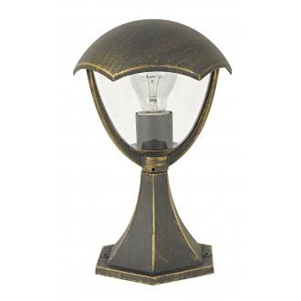 RABALUX 8672 | Miami Rabalux stojaté svietidlo 31cm 1x E27 IP44 UV starožitná zlata, biela