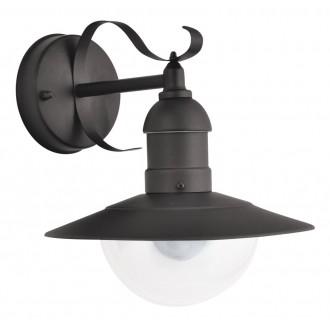 RABALUX 8680 | OsloR Rabalux rameno stenové svietidlo 1x E27 IP44 UV matná čierna, priesvitné