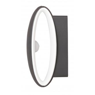 RABALUX 8705 | Bristol Rabalux stenové svietidlo 1x LED 810lm 4000K IP54 UV antracit, biela