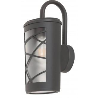 RABALUX 8742 | PescaraR Rabalux rameno stenové svietidlo 1x E27 IP44 UV antracitová sivá, opál