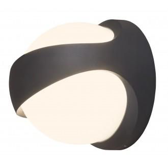RABALUX 8769 | FremontR Rabalux stenové svietidlo 1x LED 1100lm 4000K IP54 UV antracit, biela