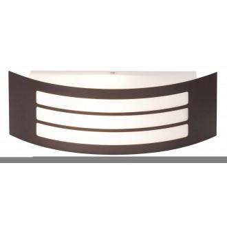 RABALUX 8777 | Roma Rabalux stenové svietidlo 1x E27 IP44 UV hnedá, biela