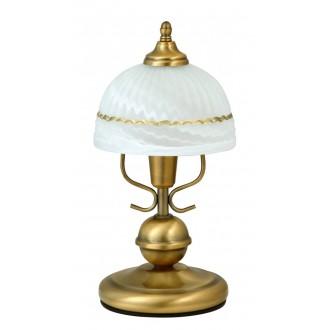 RABALUX 8812 | Flossi Rabalux stolové svietidlo 32cm prepínač na vedení 1x E14 bronzová, biela alabaster