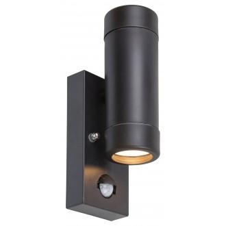 RABALUX 8835 | Medina-RA Rabalux rameno stenové svietidlo pohybový senzor 2x GU10 IP44 UV matná čierna