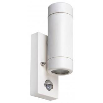 RABALUX 8839 | Medina-RA Rabalux rameno stenové svietidlo pohybový senzor 2x GU10 IP44 UV matný biely