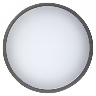 RABALUX 8847 | Hamburg_RA Rabalux stenové, stropné svietidlo 1x LED 720lm 4000K IP44 UV antracit, biela