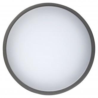 RABALUX 8848 | Hamburg_RA Rabalux stenové, stropné svietidlo 1x LED 900lm 4000K IP44 UV antracit, biela