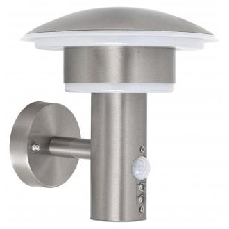 RABALUX 8977 | Denmark-RA Rabalux rameno stenové svietidlo pohybový senzor 1x LED 1000lm 4000K IP44 UV zušľachtená oceľ, nehrdzavejúca oceľ