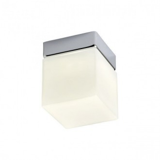 REDO 01-1133 | Drip Redo stenové, stropné svietidlo 1x LED 450lm 3000K IP44 chróm, opál