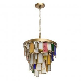 REGENBOGEN 185011106 | Morocco Regenbogen visiace svietidlo 6x E14 2580lm starožitná zlata, viacferebné