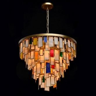REGENBOGEN 185011215 | Morocco Regenbogen visiace svietidlo 15x E14 6450lm starožitná zlata, viacferebné