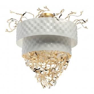 REGENBOGEN 394011316 | Carmen-MW Regenbogen stropné svietidlo 16x G9 6880lm biela, zlatý, krištáľ