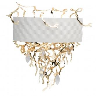 REGENBOGEN 394021705 | Carmen-MW Regenbogen stenové svietidlo 5x G9 2150lm biela, zlatý, krištáľ