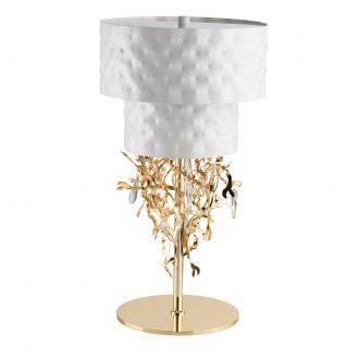REGENBOGEN 394031506 | Carmen-MW Regenbogen stolové svietidlo prepínač 6x G9 2580lm biela, zlatý, krištáľ