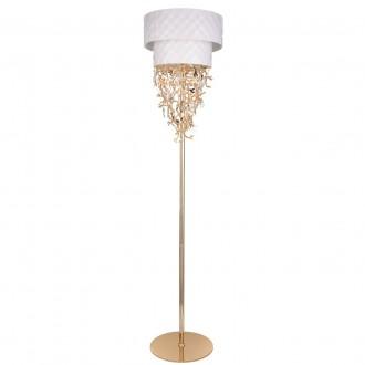 REGENBOGEN 394041608 | Carmen-MW Regenbogen stojaté svietidlo prepínač 8x G9 3440lm biela, zlatý, krištáľ