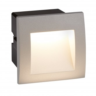 SEARCHLIGHT 0661GY | Ankle Searchlight zabudovateľné svietidlo 1x LED 25lm 4000K IP65 sivé, čierna, morené