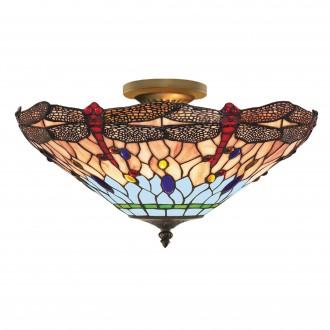 SEARCHLIGHT 1289-16 | Dragonfly Searchlight stropné svietidlo 3x E14 antická meď, farebné