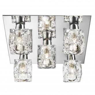SEARCHLIGHT 2275-5-LED | Ice-Cube Searchlight stropné svietidlo 5x LED 750lm 3000K chróm, priesvitné