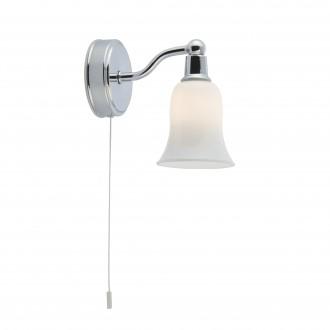 SEARCHLIGHT 2931-1CC-LED | Belvue Searchlight rameno stenové svietidlo prepínač na ťah 1x G9 280lm 3000K IP44 chróm, biela, morené